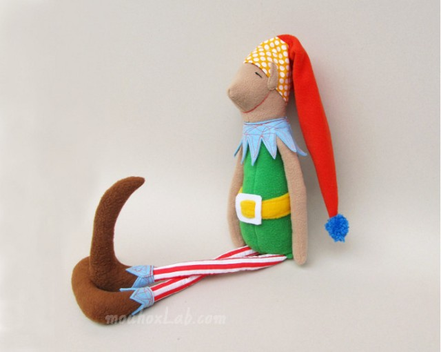 Green handmade Christmas elf