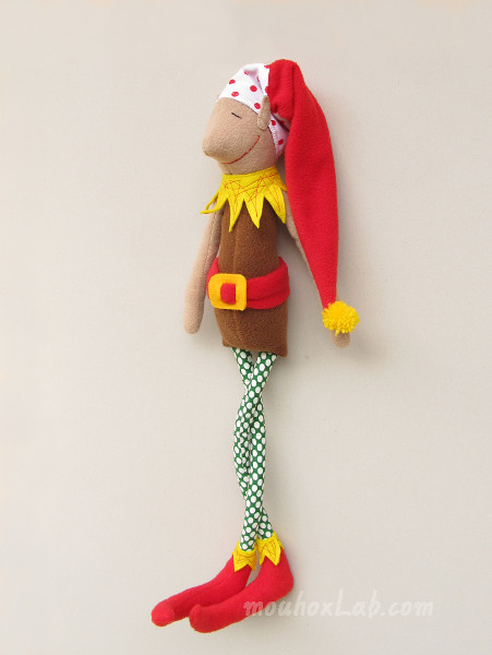 Brown handmade Christmas elf