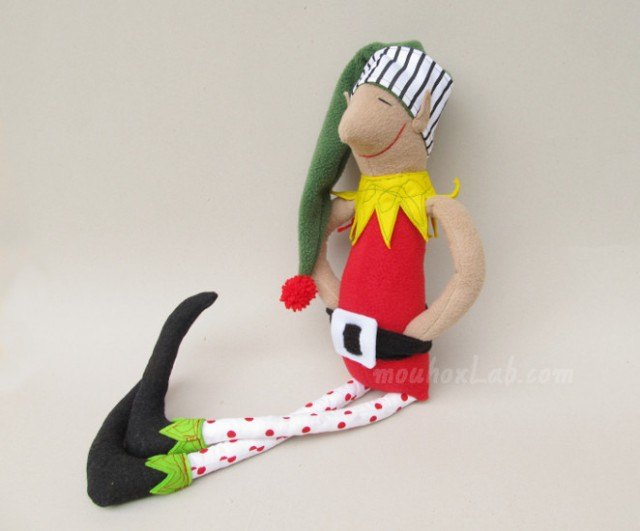 Red handmade Christmas elf