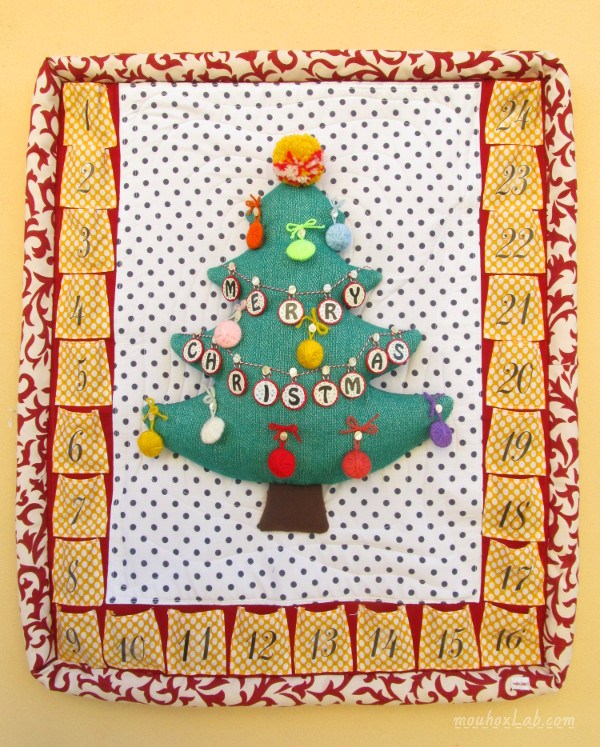Decorated advent calendar