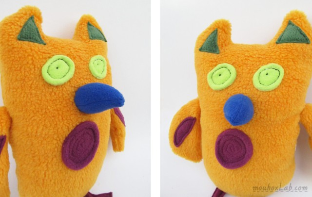 owl softie details